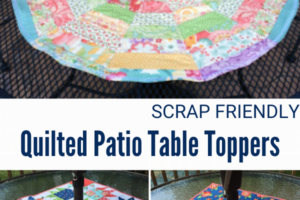 Quilted Patio Table Topper
