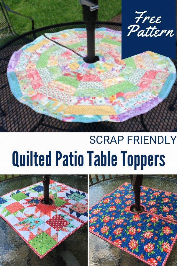 Quilted Table Topper for a Patio Table