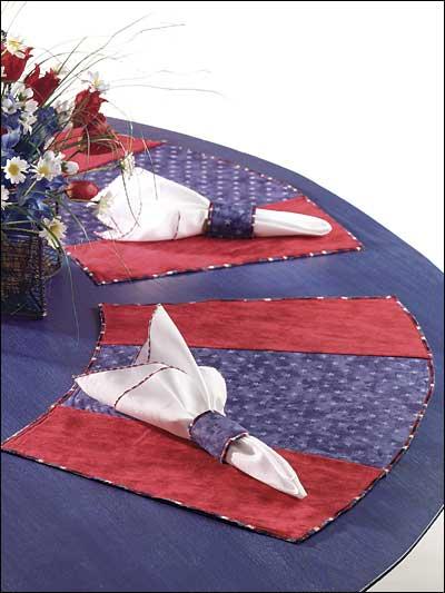 Decorative Stitches Round Table Mats