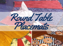 Easy To Sew Round Table Placemats