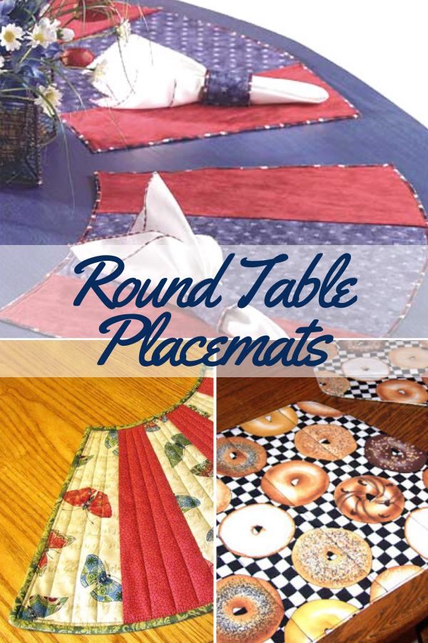 3 ways to sew round table placemats