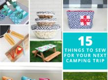 DIY Camping Trip Supplies to Sew