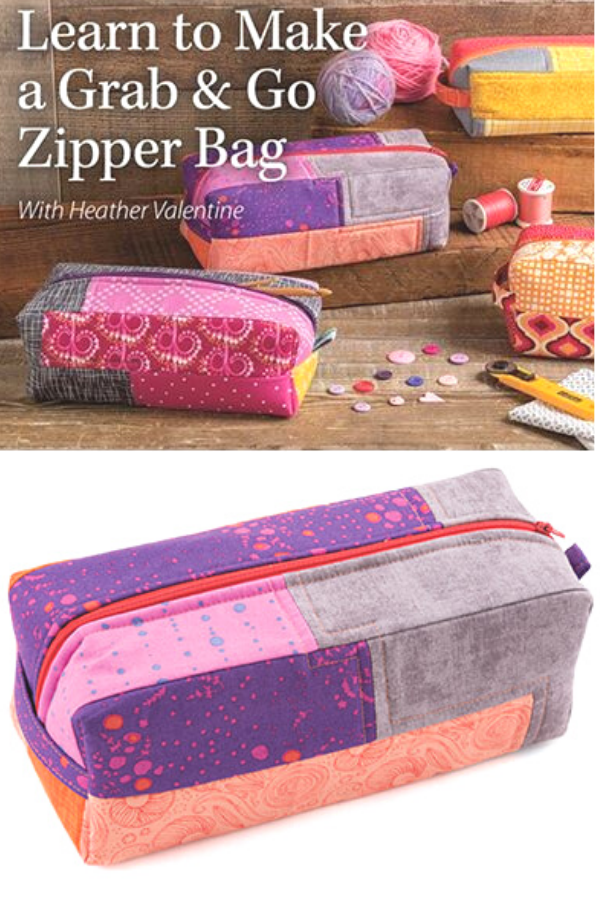 Grab and Go Zipper Bag Online Sewing Class