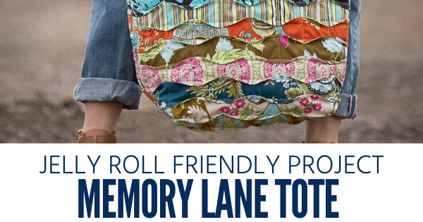 Free Quilted Tote Sewing Pattern using a jelly roll