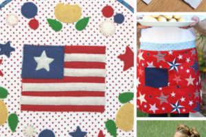 red, white, and blue sewing patterns and tutorials