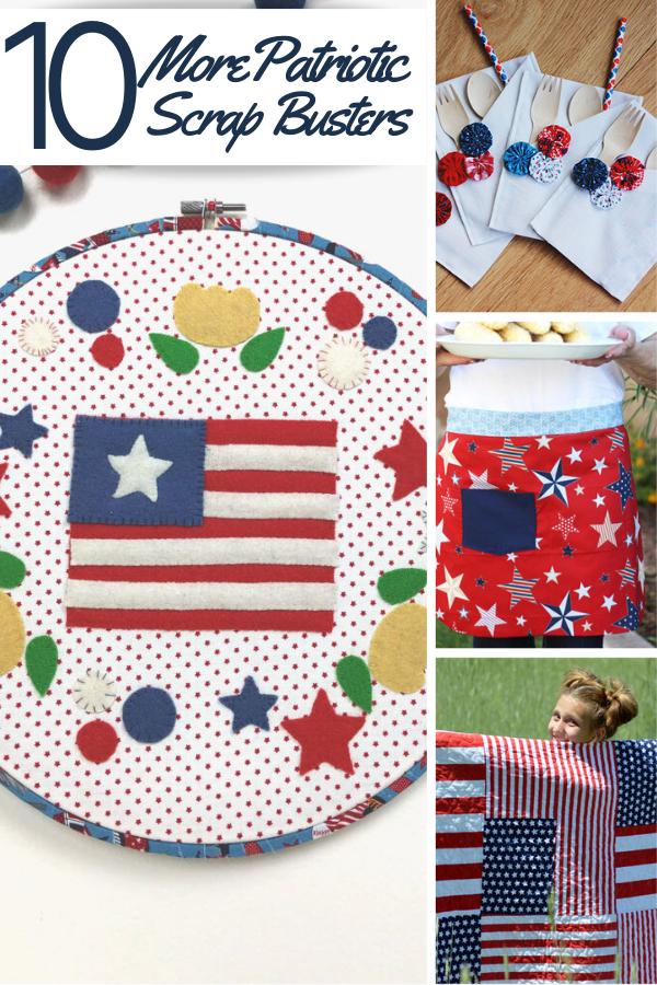 10 Patriotic Sewing Scrap Busters