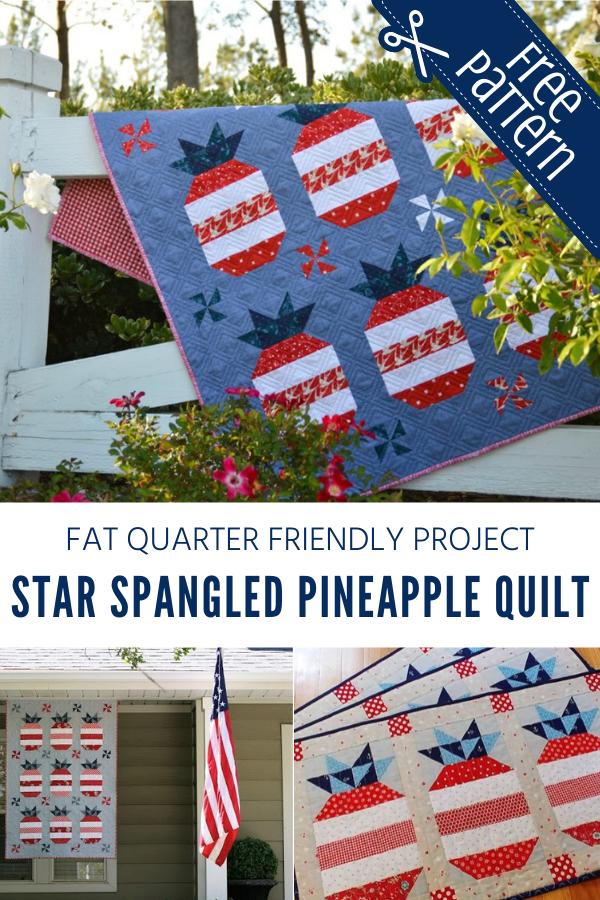 Fat Quarter Friendly Star Spangled Quilt Pattern