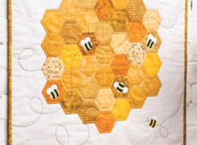 Busy Bees Mini Quilt Sewing Pattern
