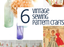 Sewing Pattern Paper Crafts to DIY