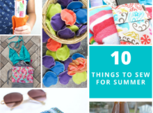 10 Summer Sewing Projects - free and easy to sew