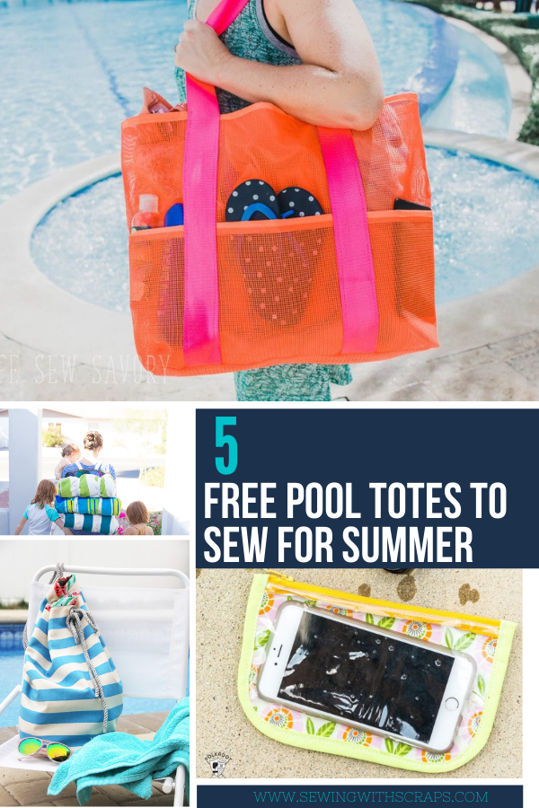 5 free pool or beach totes to sew for summer