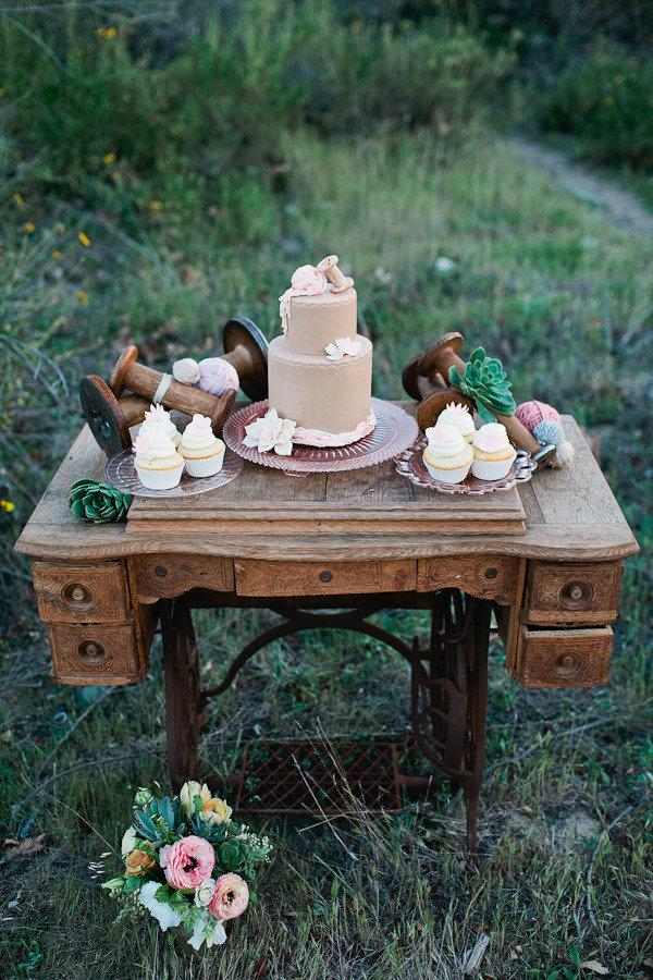 Sewing Themed Wedding Cake
