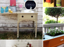 Vintage Sewing Table Transformations