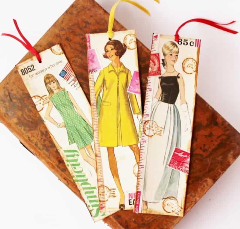 Vintage Sewing Pattern Bookmarks