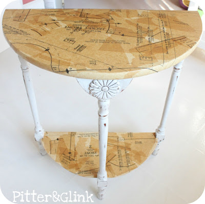 Sewing Pattern Side Table