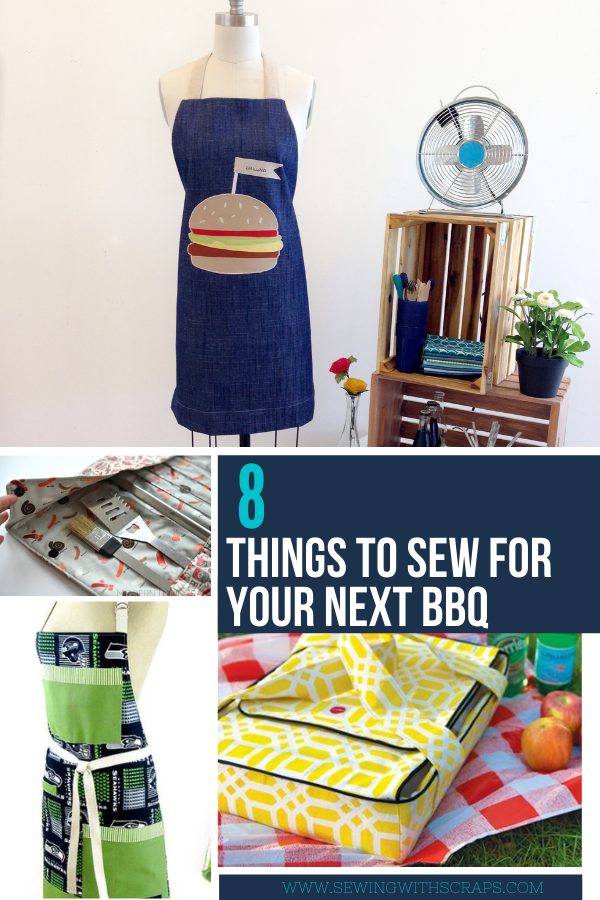 8 Things to Sew for Your Next Barbeque. Father's Day sewing ideas too.