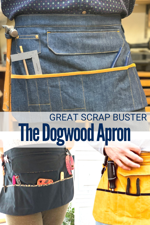 Dogwood Work Apron Sewing Pattern for Scrap Busting