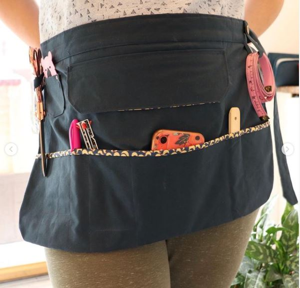 Dogwood Apron for Sewing and Crafting