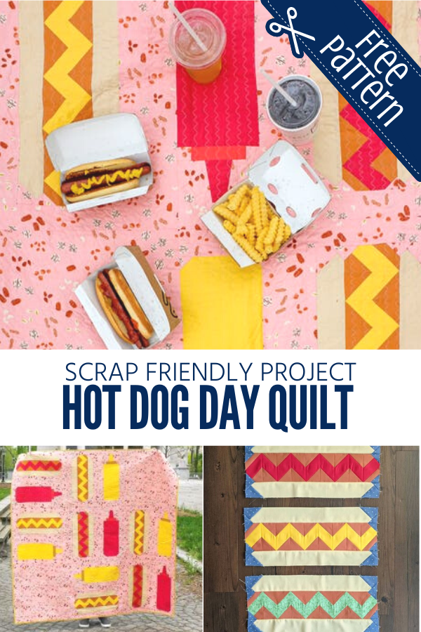 Scrap Friendly Hot Dog Day Quilt Pattern