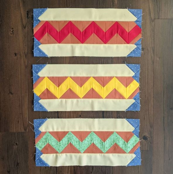 hot dog quilt block sewing pattern