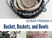 How to Make Storage Bowls and Baskets from Fabric Scraps