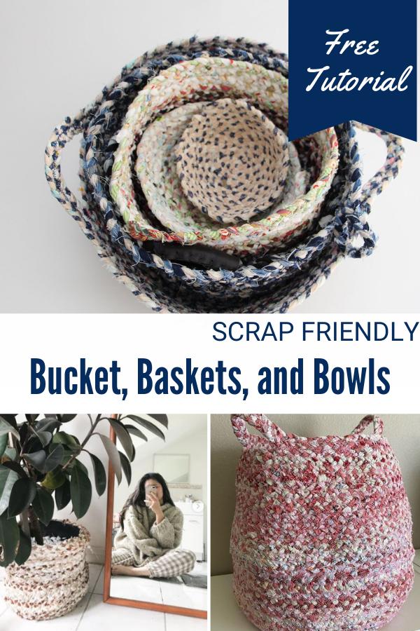 Scrap Friendly Buckets, Baskets, and Bowls