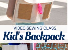 Kid's backpack sewing pattern and video class