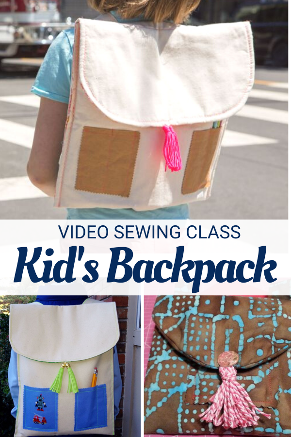 Easy to Sew Kid's Backpack