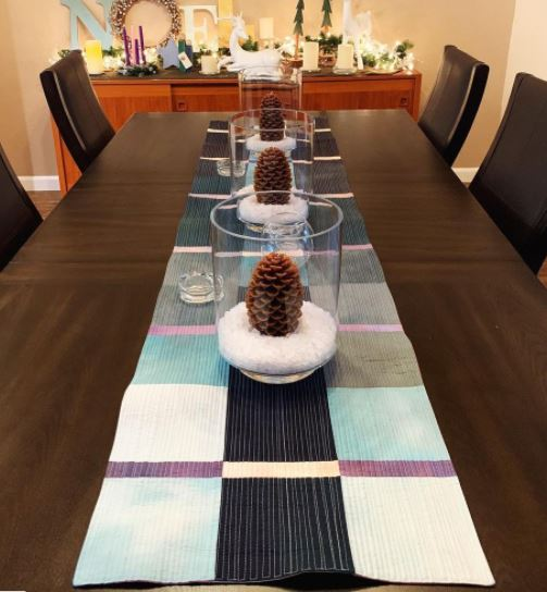 Reversible Table Runner sewing pattern using modern quilting