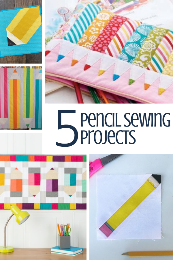 5 Free Pencil Sewing Projects for Back to School