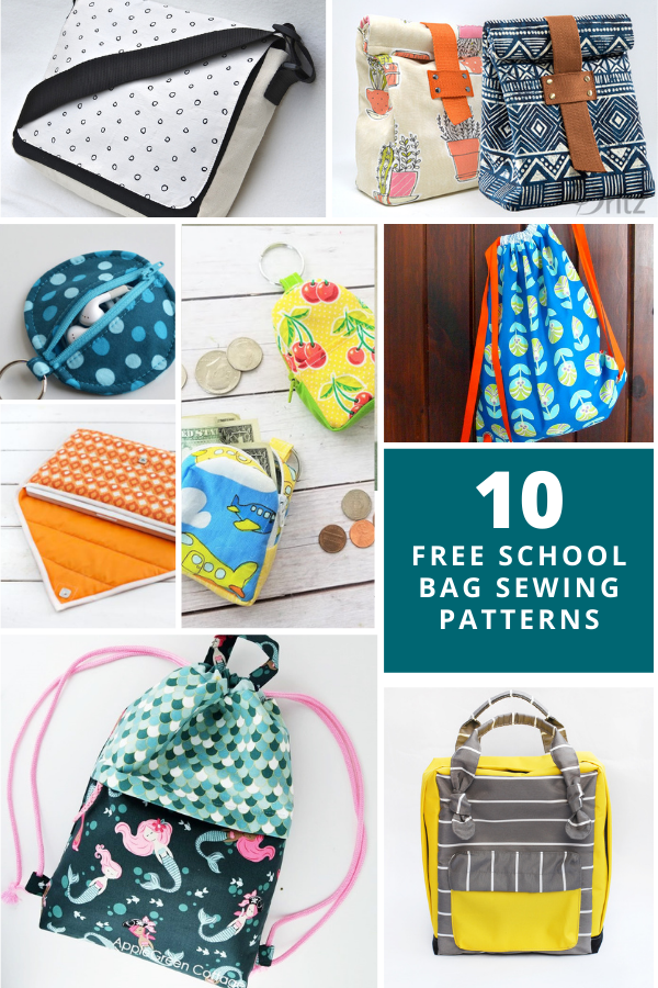 10 Free Bags Sewing Patterns for Back to School