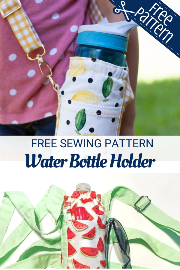 Free water bottle holder sewing pattern