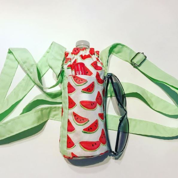 DIY water bottle holder sewing pattern and tutorial