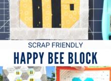 Free Happy Bee Quilt Block