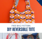 DIY Reversible Tote Sewing Pattern and Video
