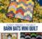 Barn Bats Halloween Mini Quilt