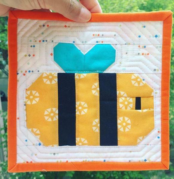 Happy Bee Mini Quilt and Mug Rug