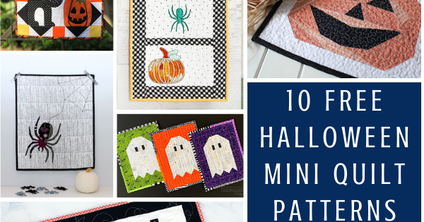 10 Free Halloween Mini Quilt Sewing Patterns