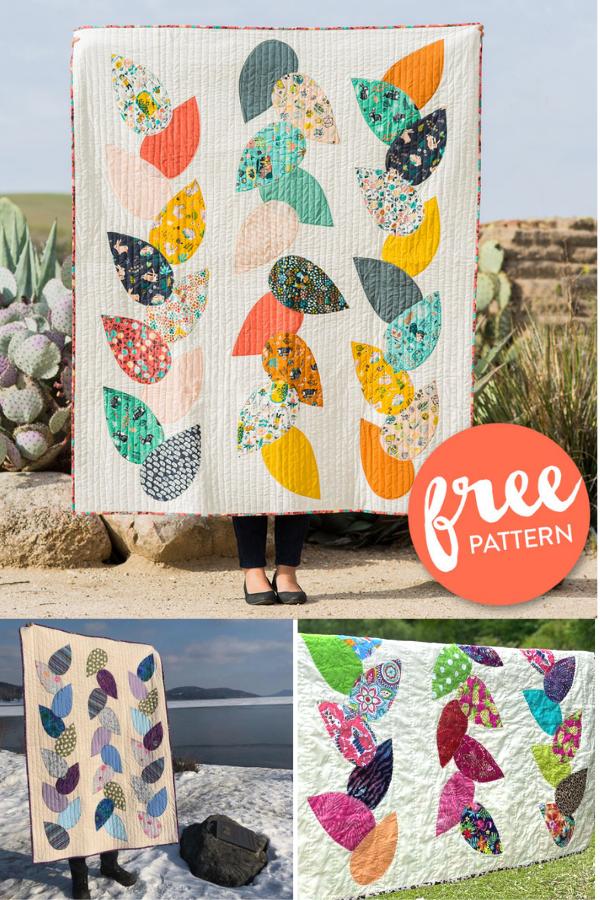 Hidden Garden Applique Quilt Sewing Pattern