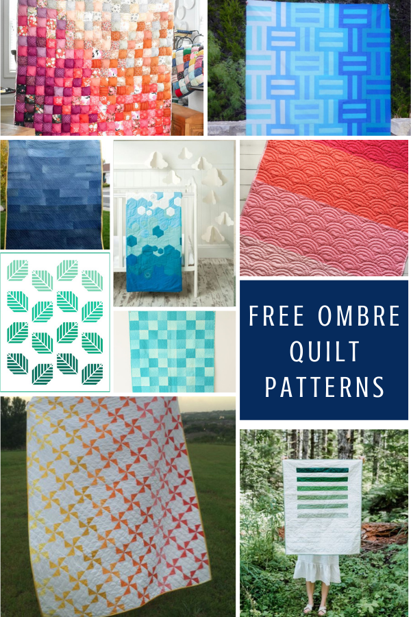 Free Ombre Quilt Patterns and Tutorials