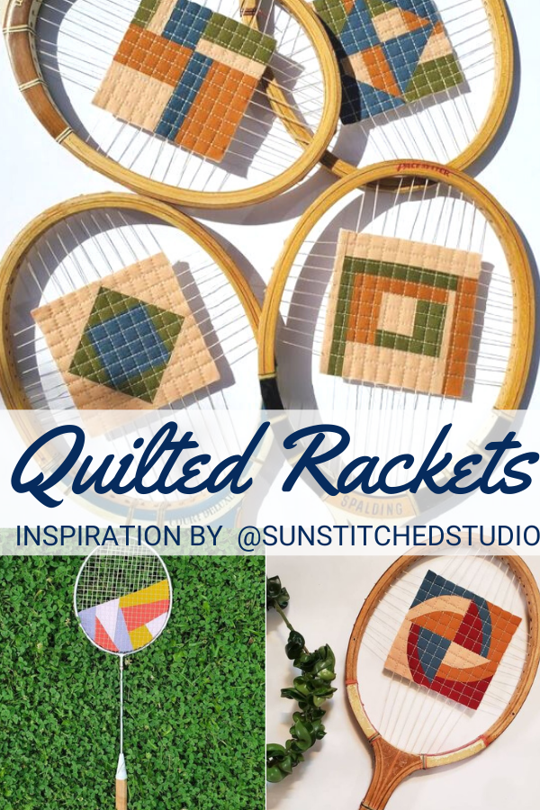 Quilted Tennis Racket Wall Hanging
