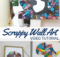 Easy Scrap Fabric Wall Art