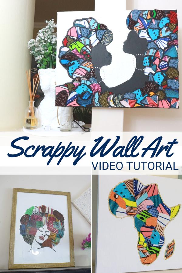 Scrap Fabric Wall Art