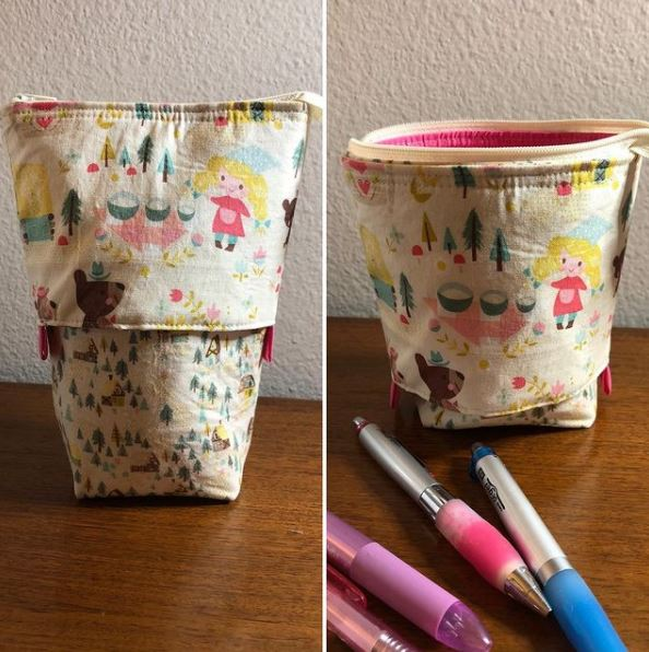 Sliding Pencil Case Sewing Pattern and Tutorial