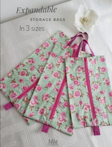 DIY Travel Storage Bag Sewing Pattern