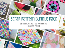 Get ahead on your holiday sewing with this amazing Scrap Pattern Bundle Pack. 16 Patterns by 11 Designers for 1 amazing price.