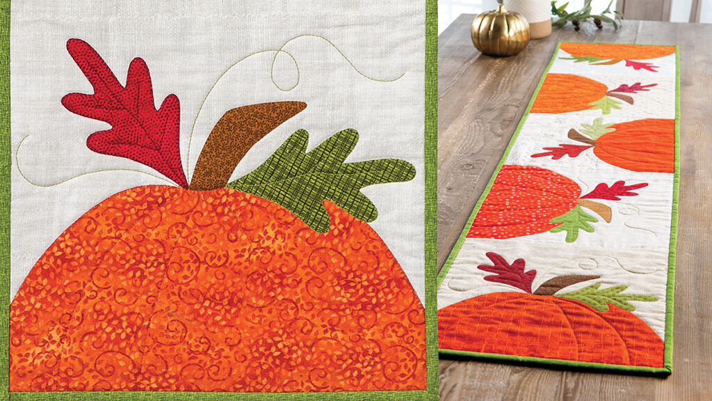 Pumpkin Patch Table Runner Sewing Pattern