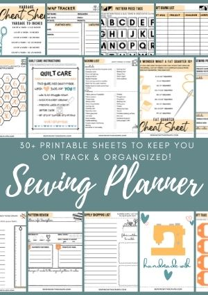 These printables from Sewing with Scraps are the perfect way to stay organized and focused. They help me finally keep track of my projects and finish them!
