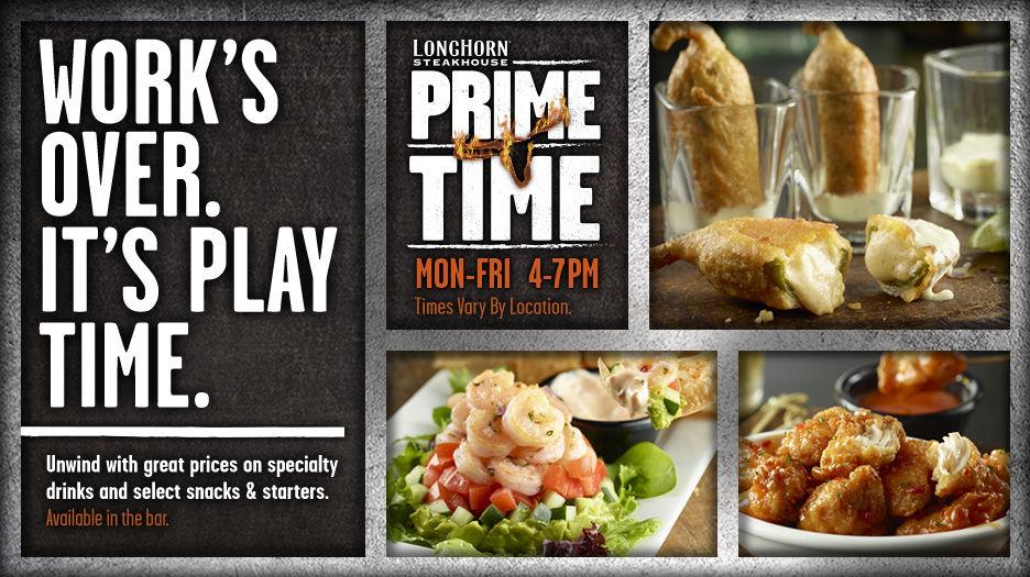 LongHorn Prime Time menu