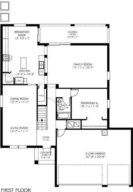 Wolcott Floorplan Lennar
